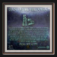 Placa en San Pedro el Viejo