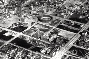 Vista aerea de la zona donde se construyo el Instituto Provincial de Puericultura.