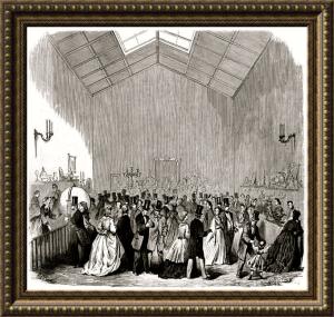 Rifa benéfica de la Junta de Damas de Honor - Grabado del S. XIX