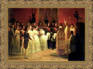 Bodas reales de Isabel II y la Infanta Luisa Fernanda