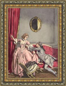 Casanova intentando seducir a La Charpillon - Ilustración de Leroux