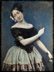 Daguerrotipo de una bailarina de la escuela bolera, hacia 1850_fotor