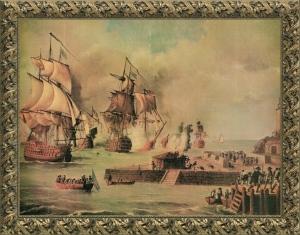 Defensa de Cartagena de Indias por la escuadra de Blas de Lezo en 1741 - Museo naval de Madrid