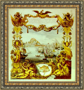 La batalla de Vélez-Málaga segun un grabado del siglo XVIII r