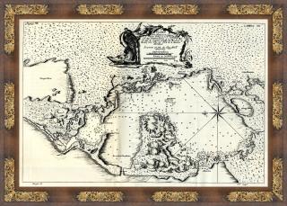 Mapa de la bahia de Cartagna de Indias