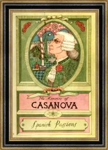 Portada del 6º tomo de las Memorias de Giacomo Casanova titulado %22Pasiones Españolas%22 (Elek Books - London 1894)-