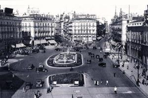 La Puerta del Sol  tras la reforma de los años 50