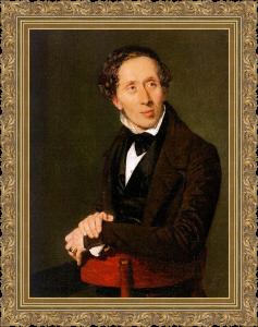 Retrato de Hans Christian Andersen realizado por Christian Albrecht Jensen en 1836