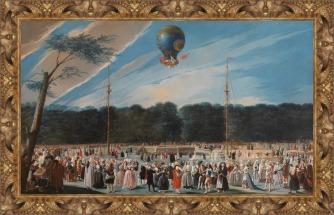 Antonio Carnicero Mancio, Ascensión de un globo Montgolfier en Aranjuez 81784)