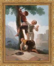 Francisco de Goya, Muchachos trepando a unarbol (1791-1792)