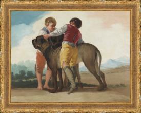Francisco de Goya, Niños con perro de presa (1786)