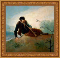 Francisco de Goya, pastor tocando la dulzaina (1786-1787)