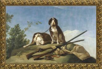 Francisco de Goya, Perros en traílla (1775)