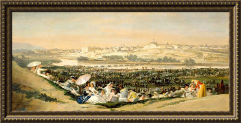 Francisco se Goya, La pradera de San isidro (boceto) (1788)