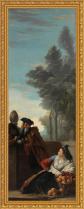 José del Castillo, La naranjera y un majo junto a la Fuente del Abanico (Siglo XVIII)